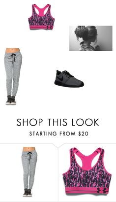 """""""Untitled #17"""" by claireblockk ❤ liked on Polyvore featuring Under Armour, NIKE, women's clothing, women, female, woman, misses and juniors"""