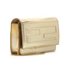"Fendi - Metallic leather shoulder bag - mytheresa.com, $1100, 7.5"" x 5"" x 1.5"""