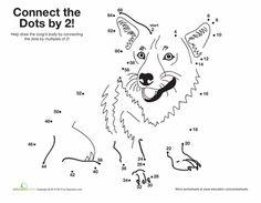 Skip Counting Dot-to-Dots - 2nd Grade Worksheets | Education.com