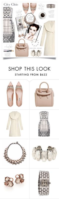 """""""Tote"""" by stranjakivana ❤ liked on Polyvore featuring Miu Miu, Alexander McQueen, J.W. Anderson, Mary Katrantzou, Ellen Conde, Lagos, Ippolita, Chaumet, Valentino and women's clothing"""