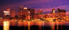 Downtown Boston Skyline at Night- Stockphotodesign.com Colorful Imagery. Come see our other amazing Images of Boston City. Boston Skyline, New York Skyline, Skyline Image, Downtown Boston, Stock Imagery, Image Categories, Best Stocks, Royalty Free Pictures, Night City