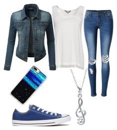 """""""Off the plane"""" by emily-mcbride246 on Polyvore featuring WithChic, Great Plains, LE3NO, Converse, Casetify and Bling Jewelry"""