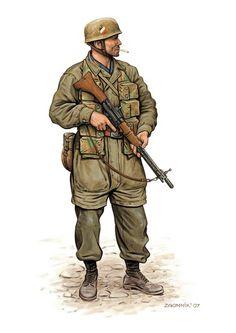 Fallshirmjaeger, german paratrooper