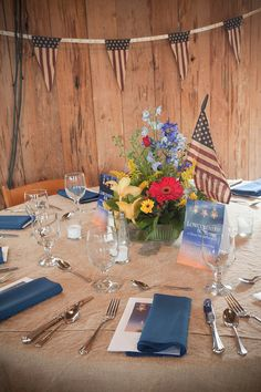 Spring florals, as if they were picked out of the garden of Boone Hall, complete with tea stained flags, gave an Americana look to the room.  For more information, go to jmccharleston.com! Follow us! https://www.facebook.com/pages/JMC-Charleston/112233958873614  http://instagram.com/jmccharleston #jmccharleston #itsalwaysaparty #CharlestonDMC #specialevents #destinationmanagement #charlestonevents #chsevents