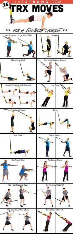 16 TRX Moves for a Full-Body Workout @trxtraining http://www.livestrong.com/slideshow/1008001-16-trx-moves-30minute-fullbody-workout/