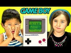 Kids React to the Original Nintendo Game Boy Handheld Video Game Device From the 1990s