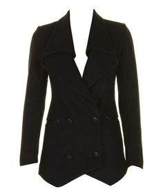 Take a look at this Black Jamie Wool-Blend Jacket by Darling on #zulily today! $59 !!