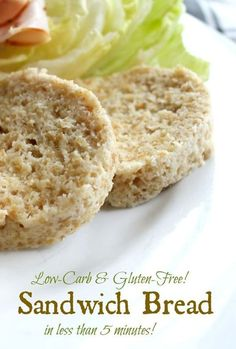 Low-carb sandwich bread has just a touch over 6 net carbs and has a flavor and texture similar to wheat bread. Gluten free, quick and easy! Find it on lowcarb-ology.com