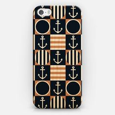 Classic Checker Nautical iPhone 5S Wood Case by Organic Saturation   Casetify #iphone #iphonecase #iphone5s #wood #woodcase #iphonecover #casetify