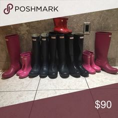 LIKE to book mark my closet❤️ I add new pairs weekly, like this listing to be alerted when new Hunter boots are added, my prices range from 35-90 depending on condition ALL AUTHENTIC from Nordstrom or Nordstrom Rack. Check out my closet for many more amazing prices and quality! Hunter Boots Shoes Winter & Rain Boots