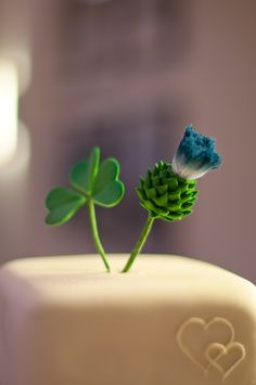 I like having the shamrock and the thistle, for Ireland and Scotland.  Maybe place on tables or something?