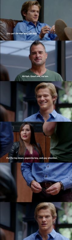 She'll definitely keep them on their toes. She'll definitely keep them on their toes. Macgyver Tv Series, Angus Macgyver, Macgyver 2016, Lucas Till Macgyver, Man Movies, Movie Tv, Tv Series 2016, Jake T, Baby George