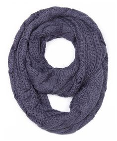 Loving this Gray Cable-Knit Braid Infinity Scarf on #zulily! #zulilyfinds