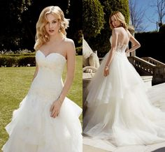Tiered Sheer Skirt Lace Wedding Dresses 2016 Sweetheart Backless Sexy Long Wedding Gowns A Line Plus Size Wedding Dress Affordable Bridal Gowns All Wedding Dresses From Angelia0223, $218.73| Dhgate.Com