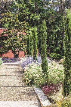 Un beau paysage de Provence Provence Garden, Provence Style, Garden Floor, Terrace Garden, Garden Paths, Dry Garden, Winter Garden, Rosen Beet, Hillside Landscaping