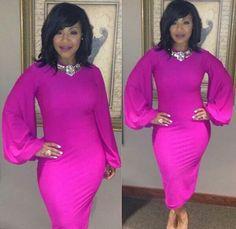 Hot pink. ... Lisa Raye