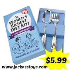 Big Mouth Toys - World's Easiest Diet - Joke box Fork Spoon Gag Gift Prank Gifts, Gag Gifts, Fitness Inspiration, Diet Jokes, Motivation Diet, Lab, Funny Gags, Hilarious, Practical Jokes