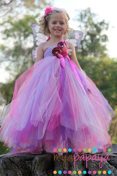 Fairy Costume Tutu Dress 12months5t  flower by MyaPapayaBoutique, $95.00