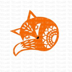 Fox folk style svg/png/dxf cricut/silhouette digital cutting file/fox svg/folk fox/animal svg/ little fox svg/sleeping fox/mandala/HTV/vinyl Christmas Stencils, Antler Art, Pet Fox, Woodland Nursery Decor, Sketch A Day, Folk Fashion, Fox Design, Linocut Prints, Cricut
