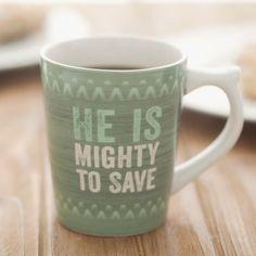 Lyrics for Life - Mighty to Save - Christian Mug