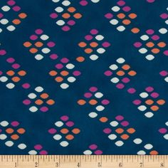 Designed by Kimberly Kight for Cotton + Steel, this very lightweight fabric is a finely woven, high count combed cotton lawn that is very soft and has an ultra smooth hand. It is perfect for flirty blouses, dresses, shirts, lingerie, tunics, tops and even quilting. Colors include orange, grey, hot pink and a teal blue background.