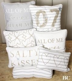 "Bastion Collections - Kussen ""Salty Kisses"" - Kussens - Bloemsierkunst Rutten Budel"