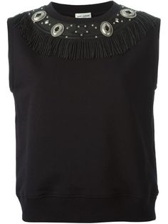 Shop Saint Laurent concho detail tank top in Liska from the world's best independent boutiques at farfetch.com. Over 1000 designers from 300 boutiques in one website.