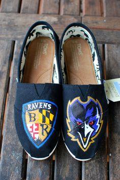 Baltimore Ravens TOMS. $149.00, via Etsy.
