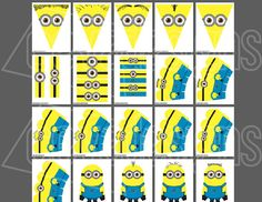Printable Minion Birthday Party Decoration Make by CEVADesigns