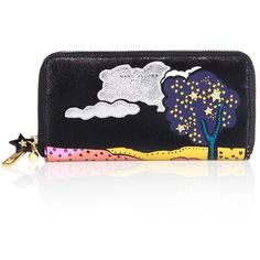 Marc Jacobs Cartoon Leather Continental Wallet (4.046.570 IDR) ❤ liked on Polyvore featuring bags, wallets, apparel & accessories, leather credit card holder wallet, genuine leather credit card holder wallet, zip around continental wallet, leather wallets and comic book