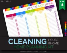 Clean Home Checklist, Cleaning To Do List, Cleaning Schedule