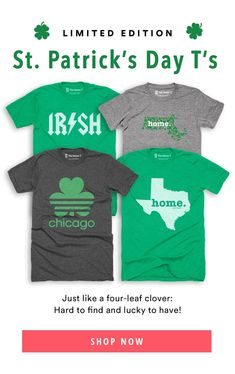 2fb20e65 Our St. Patrick's Day t-shirt collection is the perfect way to show the