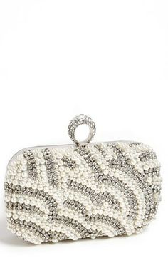 Natasha Pearl & Silver Bridal Clutch from Nordstrom