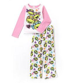 Look what I found on #zulily! TMNT Heart Pajama Set - Girls #zulilyfinds