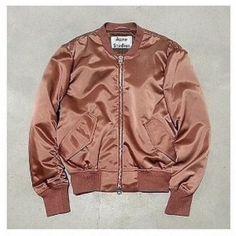 jacket acne studios bomber jacket dusky pink blush pink nude silk pink bomber jacket