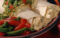 Santa Fe Chicken Salad Wraps - Chicken, green chilies. (Some jalepenos ...