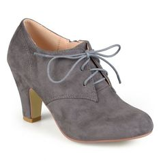 e59e64e4f3022a Women s Journee Collection Leona Vintage Round Toe Lace Up Booties