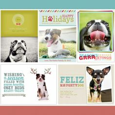 brand sushi dog themed holiday card templates for 2012 so cute - Dog Holiday Cards