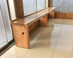 ミニストップのイートインコーナーに奈良の杉の木で内装工事とテーブルを設置いたしました。^^