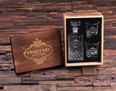 Personalized Engraved Etched Scotch Whiskey by TealsPrairie