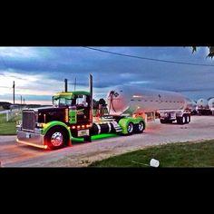truckingworldwide: peterbilt custom with dump trailer