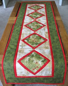 Christmas Table Runner Quilted  made from by PicketFenceFabric, $31.95