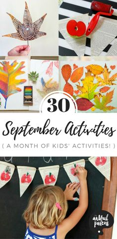 30 September Activities for Kids - A Month of Creative Ideas, Leaf Crafts, and Apple Activities