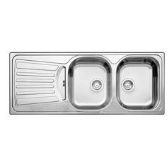 BLANCO   2 Bowl, Left Hand Drainboard Topmount Stainless Steel Kitchen Sink    SOP464