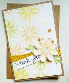 Thankyou flowers card  #papercrafts #card making #stamps #스탬프아트카드 #수제카드 #페이퍼크레프트 #핸드메이드카드#스탬프 #로이공작소 #paperarts