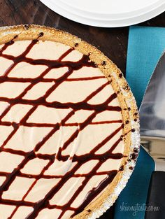 """Skinny No Bake PB Pie Yummm... this is so similar to the """"normal"""" version! I think I would still use the chocolate graham cracker crust though"""