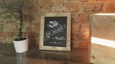 """Wanddeko - Paletten-Tafel """"Eat dessert first"""" - ein Designerstück von Paligna…"""