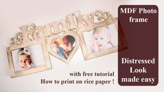 distressed photo frame - diy tutorial