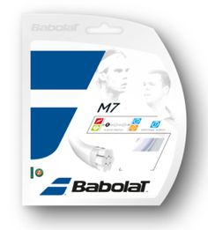 The string is the thing... Babolat M7 tennis string