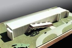 Projeto: Tribunal de Justiça do Rio de Janeiro / RJ / Brasil - Autor: Arquiteto Oscar Niemeyer - Maquetes e fotos: Gilberto Antunes - Escala: 1/200